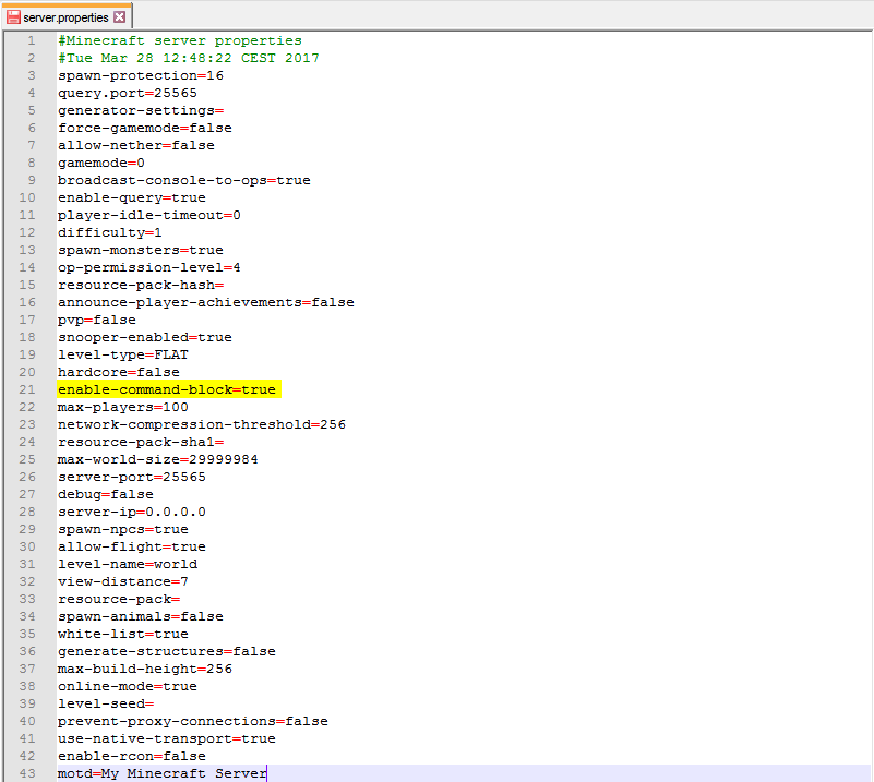 Enable Command Blocks FTP