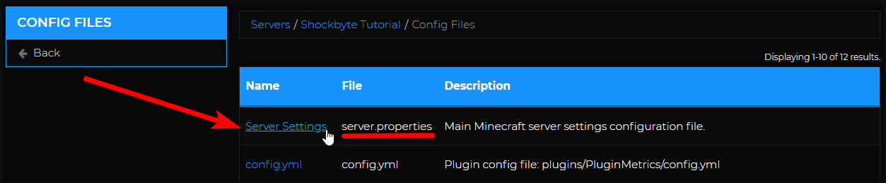 MOTD - Config Files page