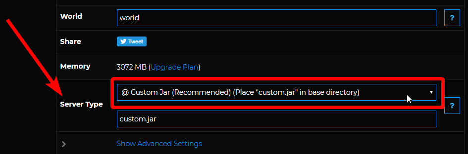 Snapshot - custom jar type