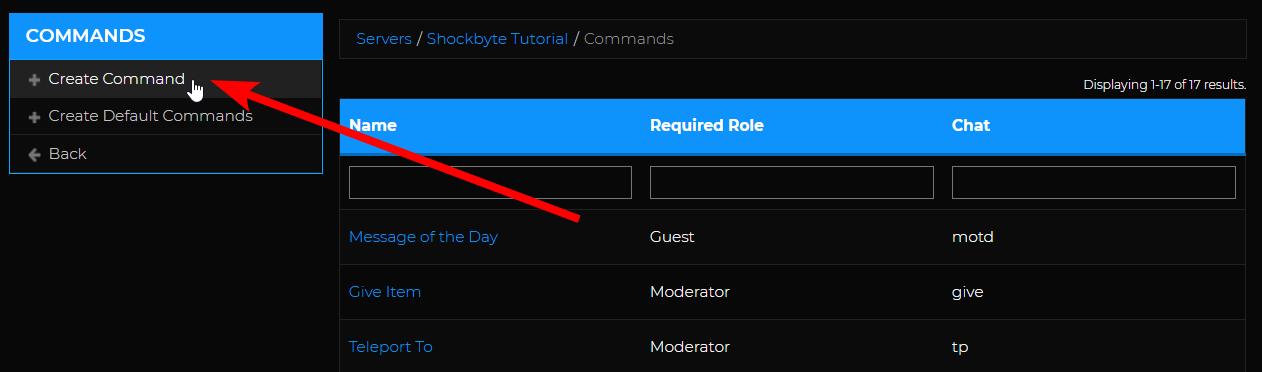 Custom Command - Create command