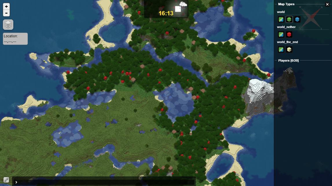 Setup Dynmap - Dynmap live map sample