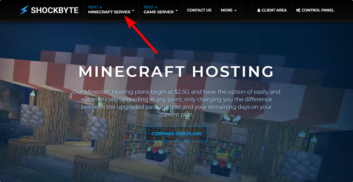 How to order a Minecraft Server with Shockbyte Knowledgebase