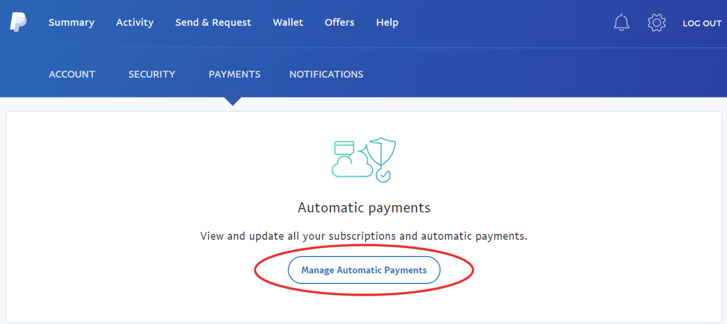 PayPal Manage Automatic Payments